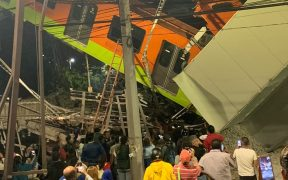 Reportan muertos y heridos por desplome de L12 del metro