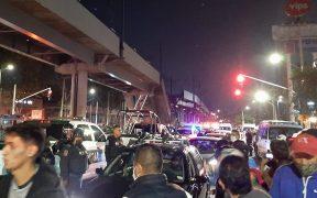 Así fue el momento en el que colapsó la estructura elevada de la Línea 12 del Metro