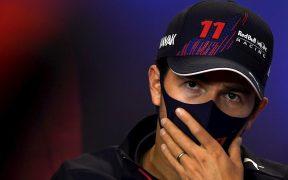 Checo Pérez buscará su primer podio con Red Bull en Barcelona. (Foto: EFE).