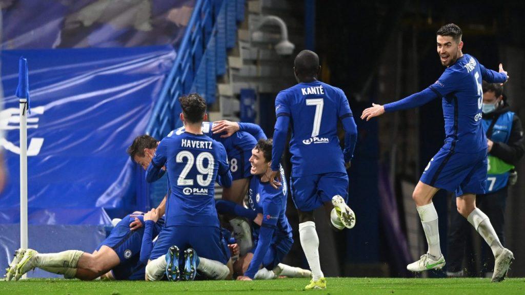 Los jugadores del Chelsea celebran el segundo gol ante Real Madrid. (Foto: Reuters).