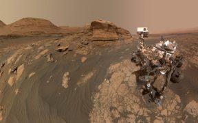 Así es la vista panorámica marciana del rover Curiosity desde Mont Mercou