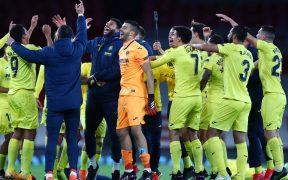 Los jugadores del Villareal celebran el pase a la Final de la Europa League. (Foto: Reuters).