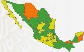 México se pinta de verde; 14 estados estarán en el nivel de riesgo bajo del semáforo Covid