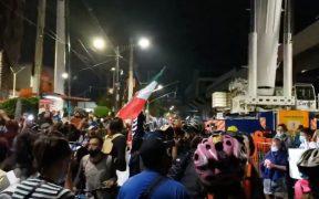 """""""No fue un accidente, fue negligencia"""", protestan cientos de personas en Tláhuac por colapso en L12"""