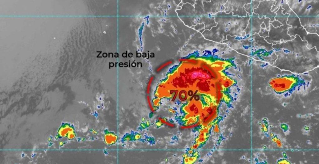 Ciclón se formaría cerca de las costas de Michoacán, alerta el SMN