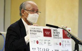 La campaña para cancelar los Juegos de Tokio rebasó 350 mil firmas. (Foto: AP).