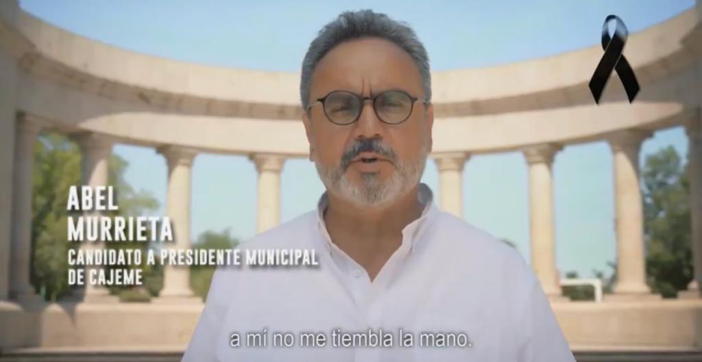 En último spot, Abel Murrieta prometió combatir la inseguridad en Cajeme