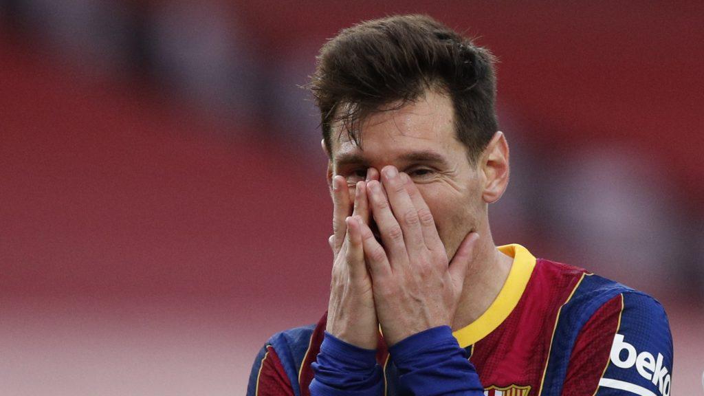 Messi no podía creerse la derrota ante Celta. (Foto: Reuters).