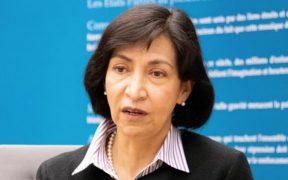 Socorro Flores, jueza de la Corte Penal Internacional, defiende perspectiva de género en enjuiciamiento de crímenes de guerra