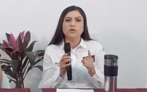 """Amenazan a Claudia Rivera Vivanco, candidata a la alcaldía de Puebla; gane o pierda, le dicen, """"pélate, porque te van a perseguir"""""""