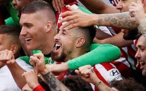 Herrera disfrutó al máximo su primer título de liga con el Atlético. (Foto: EFE).