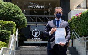 Adrián de la Garza presenta queja ante la CNDH contra AMLO por intervenir en elección de Nuevo León