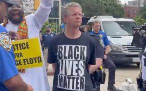 Arrestan a candidato a la alcaldía de NY en protesta por George Floyd