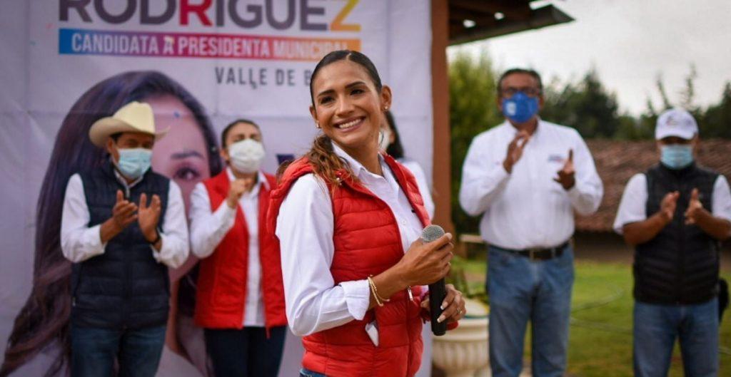 Zudikey Rodríguez reanuda su campaña en Valle de Bravo pese a amenazas del crimen organizado