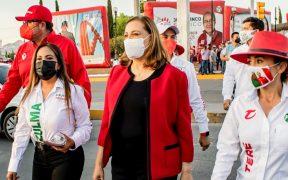 """Candidata del PRI en Chihuahua niega que haya declinado a favor de Maru Campos; pide """"frente común"""""""
