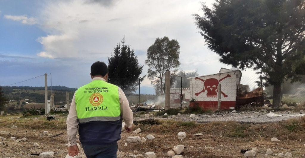 Explosión de polvorín en Tlaxcala deja al menos cuatro muertos