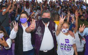Priistas en Baja California piden retirar apoyo a Lupita Jones en favor de Hank Rhon