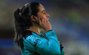 Karen Díaz dirigió durante las 18 jornadas del torneo Guard1anes 2021. (Foto: Mexsport).