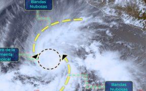 Se forma Tormenta tropical sobre el Pacífico lejos de Cabo Corrientes, en Jalisco