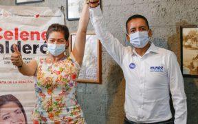 Candidata del PSI a alcaldía de Puebla se suma a campaña del panista Mundo Tlatehui Percino