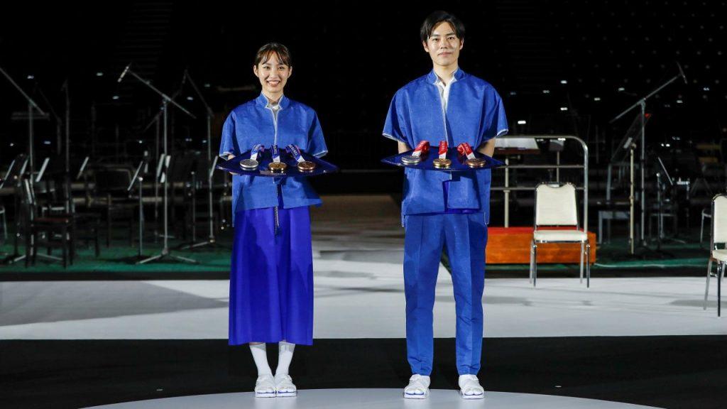 Las bandejas de las medallas para las ceremonias de premiación. (Foto: Reuters).