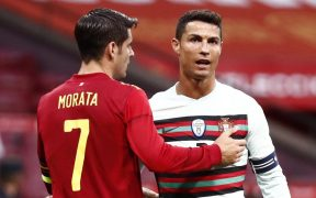 Morata y Cristiano fallaron las mejores opciones. (Foto: Reuters).