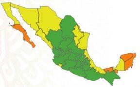 CDMX y otros 18 estados se encuentran en semáforo verde; cuatro entidades están en naranja