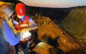 Mineros atrapados tras colapso de mina en Múzquiz podrían estar resguardados en un túnel