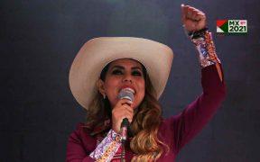 Evelyn Salgado, candidata de Morena, adelanta en Guerrero con el 42% según el conteo rápido