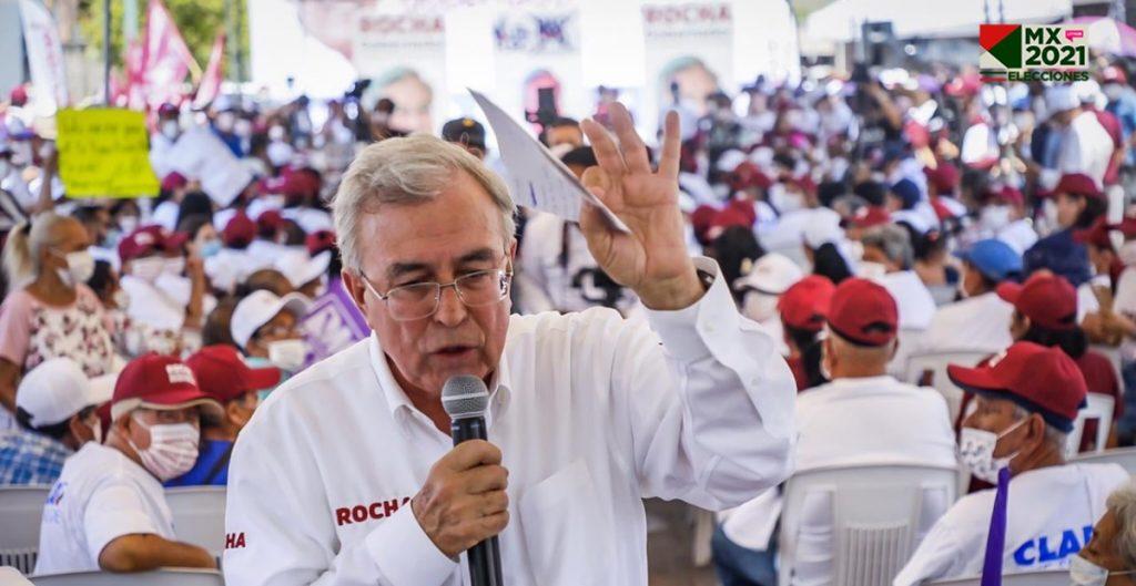 Rubén Rocha, de la alianza Morena-PAS, lidera elección para gobernador de Sinaloa, señala conteo rápido