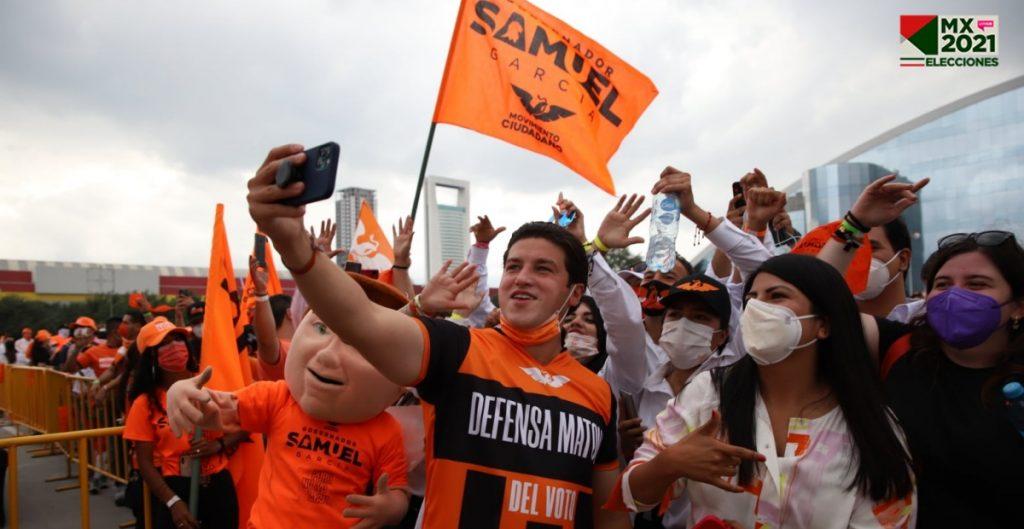 Samuel García supera por 8 puntos a Adrián de la Garza en la contienda por Nuevo León, según cifras del PREP