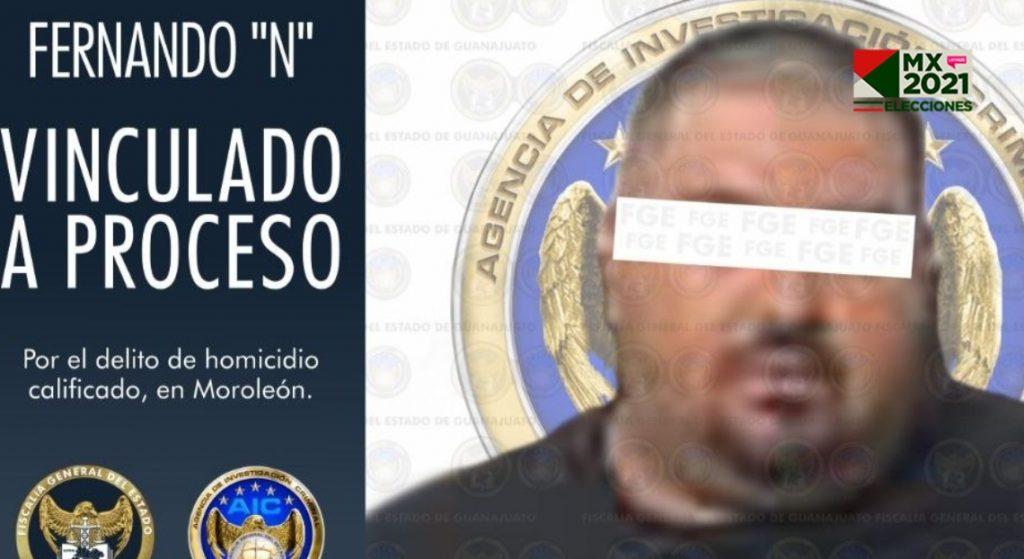 Dictan prisión preventiva a Fernando 'N', presunto homicida de candidata de MC a alcaldesa de Moroleón