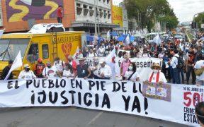 """Marchan en el centro de la CDMX a 50 años del """"Halconazo"""""""