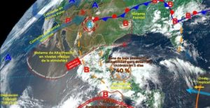 Se esperan lluvias muy fuertes para 17 estados este domingo, pronostica el SMN