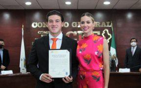 Samuel García recibe constancia de mayoría como gobernador electo de Nuevo León