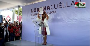 Autoridad electoral entrega en Tlaxcala a Lorena Cuéllar constancia de mayoría