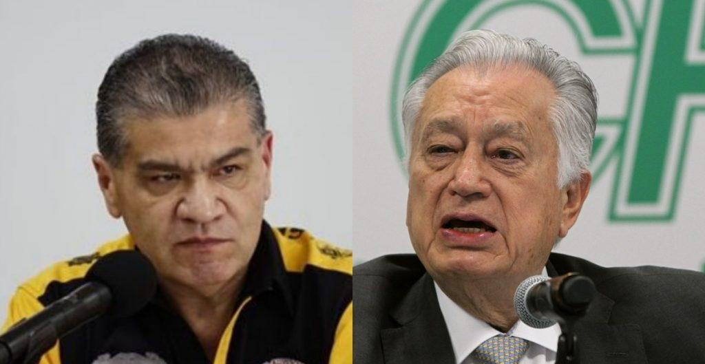 """Bartlett dice que Riquelme debió imponer seguridad en mina de Múzquiz; """"es grave su ignorancia"""", le responde el gobernador"""