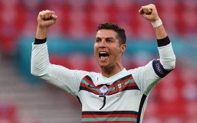 Cristiano Ronaldo celebra su doblete frente a Hungría. (Foto: Reuters).