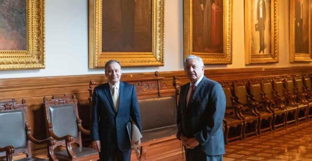 AMLO se reúne con Layda Sansores y Alfonso Durazo en Palacio Nacional