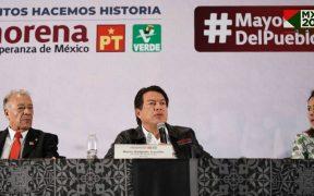 """""""Dialogar con la oposición para lograr mayorías calificadas"""", pide Delgado a diputados electos de Morena, PVEM y PT"""