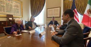 Arturo Herrera y Janet Yellen abordan aprobación del impuesto a empresas multinacionales