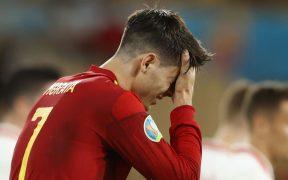 Álvaro Morata marcó el gol de España, pero volvió a mostrarse errático. (Foto: Reuters).