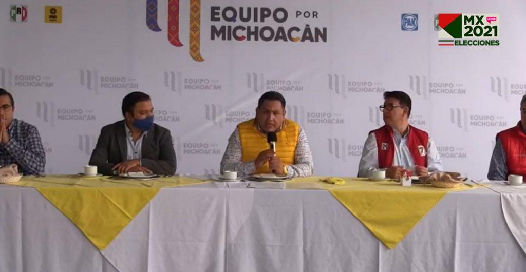 PAN, PRI y PRD en Michoacán presentan impugnaciones a la elección a gobernador
