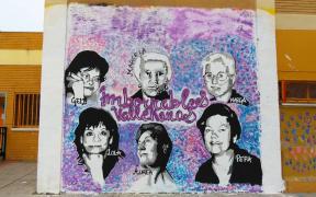 Imborrables Vallekanas: la historia de seis mujeres homenajeadas en un mural