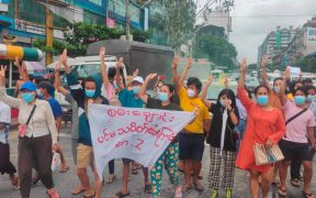 Ejército de Birmania y milicia opositora se enfrentan en Mandalay