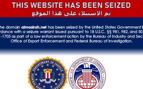 Sitios web iraníes reportan que han sido incautados por EU