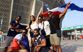 Aficionados de Francia, antes del partido ante Portugal. (Foto: Reuters).