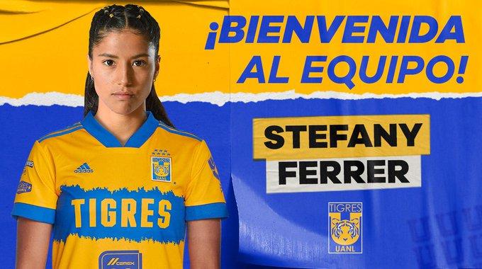 Stefany Ferrer llega a Tigres, campeón de la Liga MX. (Foto: @TigresFemenil).