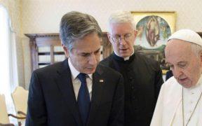El Papa Francisco recibe a Antony Blinken en El Vaticano