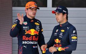 Verstappen y 'Checo' hicieron el 1-3 en la calificación de Austria. (Foto: Reuters).